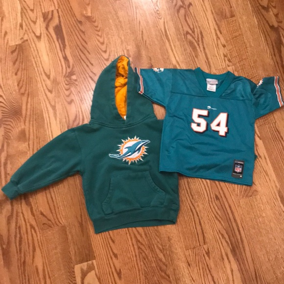 276c5164 Miami Dolphins Kids Jersey and Sweat Shirt Reebok